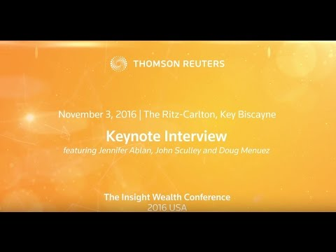 Interview with John Sculley and Doug Menuez at the Thomson Reuters Insight Wealth Conference 2016