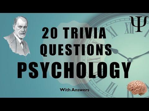 20 Trivia Questions (Psychology) No. 1