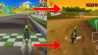 When I complete a lap, I swİtch to the last lap of the session | Mario Kart Wii