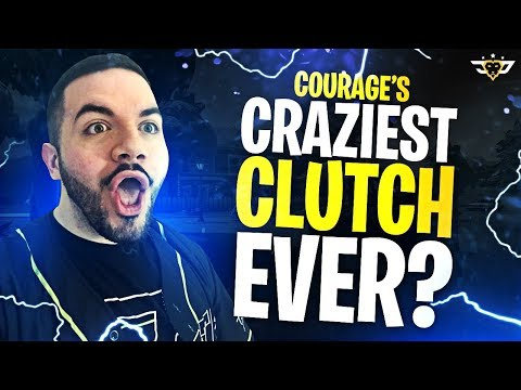 COURAGE'S CRAZIEST CLUTCH EVER?! TOP 1% PRO GAMES! (Fortnite: Battle Royale)