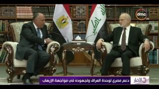 الأخبار - وزير الخارجية يبحث فى العراق جهود مكافحة الإرهاب