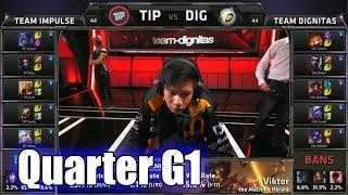 Team Impulse vs Dignitas | Game 1 Quarter Finals S5 NA LCS Summer 2015 Playoffs | TIP vs DIG G1 QF