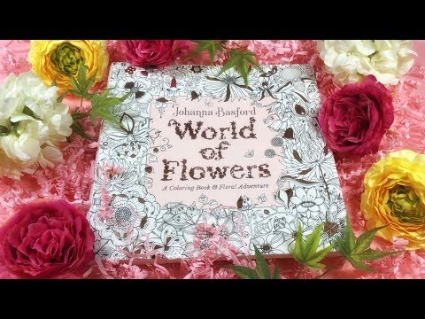 flip-through-world-of-flowers-|-coloring-book-by-johanna-basford