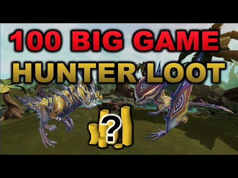 Loot From 100 Big Game Hunter [RuneScape 3]