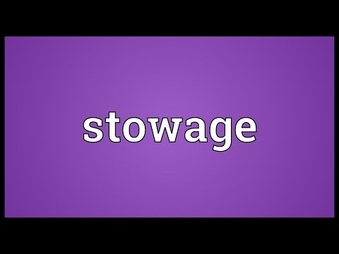 Stowage Meaning