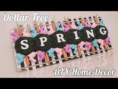 DOLLAR TREE DIY   EASTER & SPRING SIGN   HOME DECOR UNDER $30