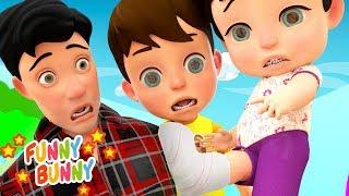 Boo Boo Song 2   Nursery Rhymes   Funny Bunny