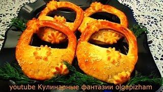 """Ну очень вкусные пирожки """"Корзиночки с грибами"""" к праздничному столу. Все будут в восторге!!!"""