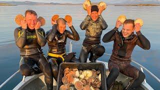 Без Денег в Норвегии. Ловим и Готовим Красную рыбу. Ныряем на 20 метров за гребешками.