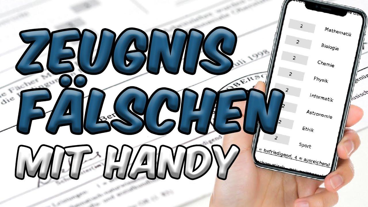 Download Zeugnis fälschen mit HANDY