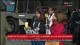 Moreno: Marcha de silencio y luto por la muerte de dos docentes
