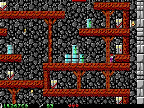 Apogee Crystal Caves I, Troubles With Twibbles, 1991. Level 16 FINAL Walkthrough