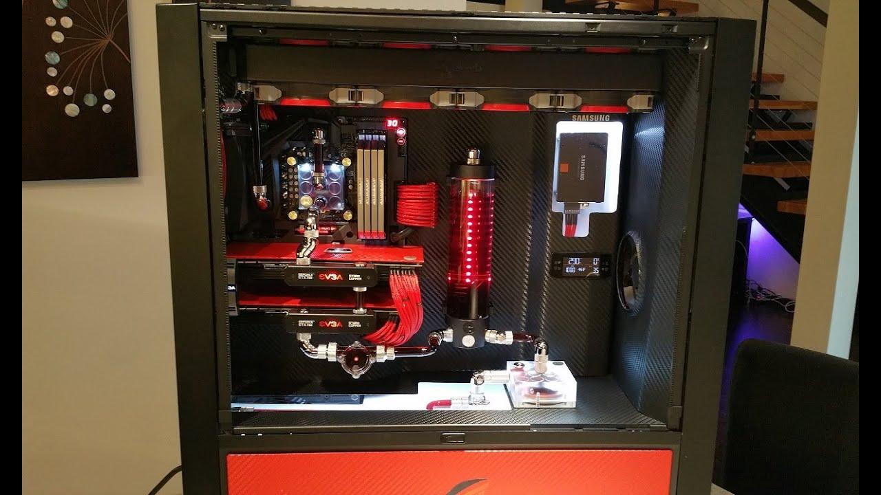 Red Rage Liquid Cooling Build Corsair 900d Asus Rog