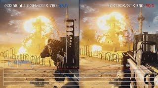 pentium G3258 vs Core i7 4790K: Battlefield 4 on GTX 750 Ti Frame-Rate Tests