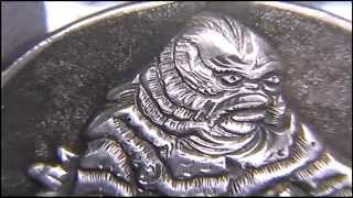 Creature From The Black Lagoon Hobo Nickel by Shaun Hughes