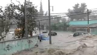 Video de las inundaciones sufridas en Monclova, Coahuila.