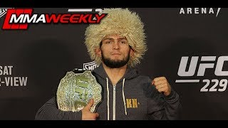UFC 229: Khabib Nurmagomedov Post-Fight Press Conference  (FULL)
