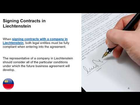 Signing Contracts with a Company in Liechtenstein