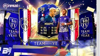 MENTAL! I PACKED TOTY 98 MBAPPE! TOTY IN A PACK! | FIFA 20 ULTIMATE TEAM