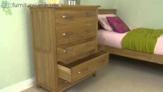 Newark Solid Oak 5 Drawer Chest From Oak Furniture Land
