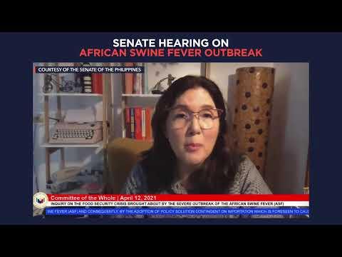 Senate hearing on the African swine fever outbreak