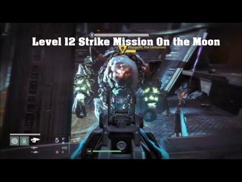 Destiny Level 12 Titan Moon Strike Mission Gameplay Walkthrough / Playthrough Boss Battle