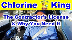 Why You Need Your Pool Contractors License - Chlorine King Pool Service
