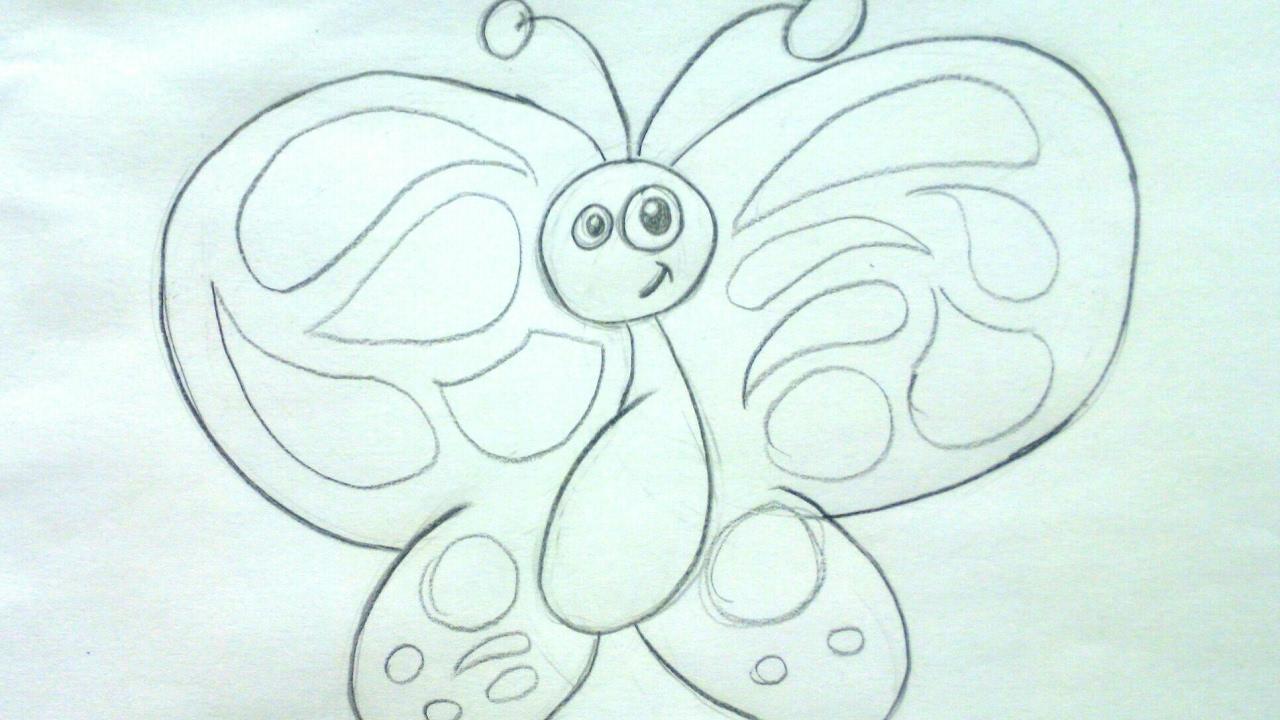 Dibujos fciles de mariposas Cmo dibujar una mariposa a lpiz