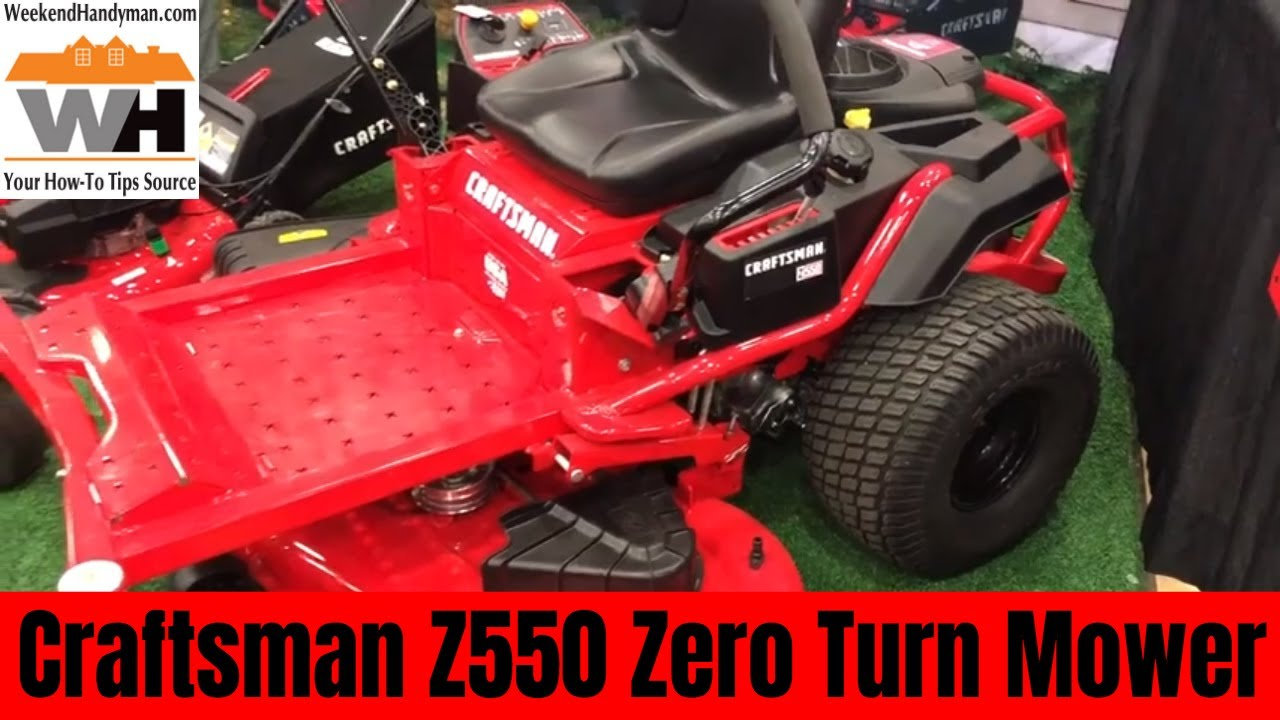 New For 2019  Craftsman Zero Turn Riding Lawn Mower Z550