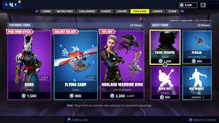 NEW TARO AND NARA SKIN + HIGHLAND WARRIOR BUNDLE: Fortnite Item Shop