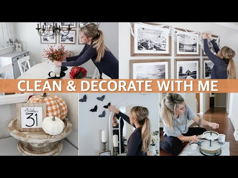 FALL / HALLOWEEN CLEAN AND DECORATE WITH ME | BUDGET DECORATING IDEAS & HALLOWEEN HOUSE TOUR