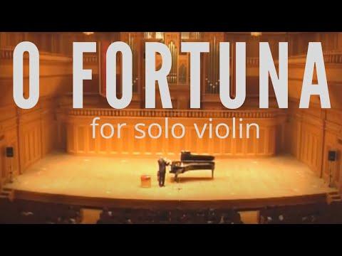 O Fortuna For Solo Violin