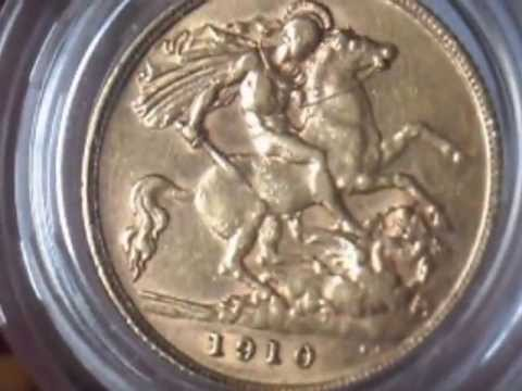 Picking up Gold half sovereign, mint errors and and 18ct gold diamond ring