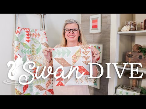 Cake Mix Recipe Paper: Jolly Bar Swan Dive Quilt Tutorial | Fat Quarter Shop