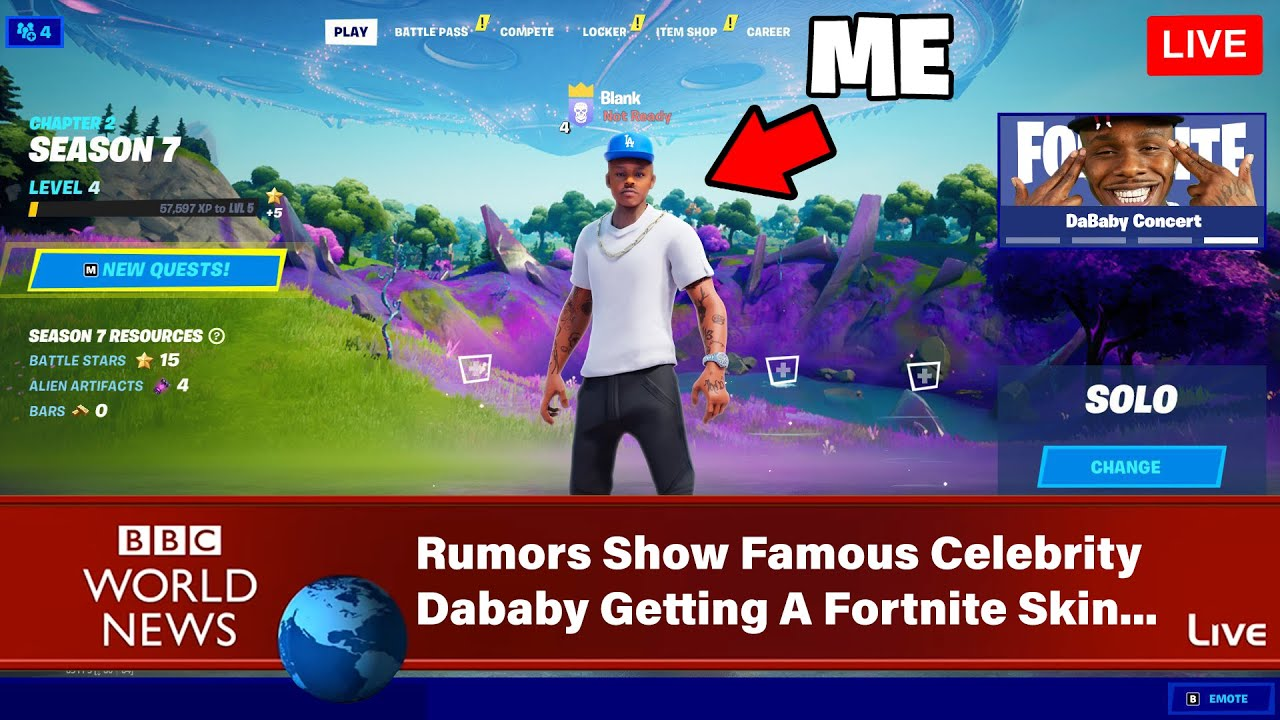 I Tricked the Internet with The FAKE Dababy Skin in Fortnite!