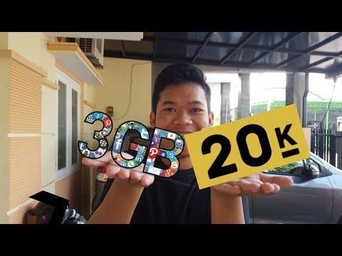 ASLI MURAH Paket INTERNET TELKOMSEL 3GB CUMA 20K!!