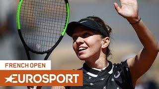 Simona Halep vs Lesia Tsurenko | Roland Garros 2019 Day 7 | Eurosport