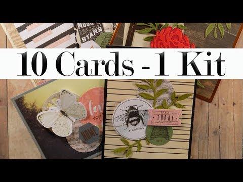 10 Cards | 1 Kit – Spellbinders May Card Kit (Part 1 Of 2)