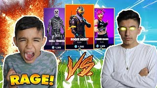 Fortnite Hilarious 1v1 Against 10 Year Old Little Brother! Winner Gets New Skins! (Rage)