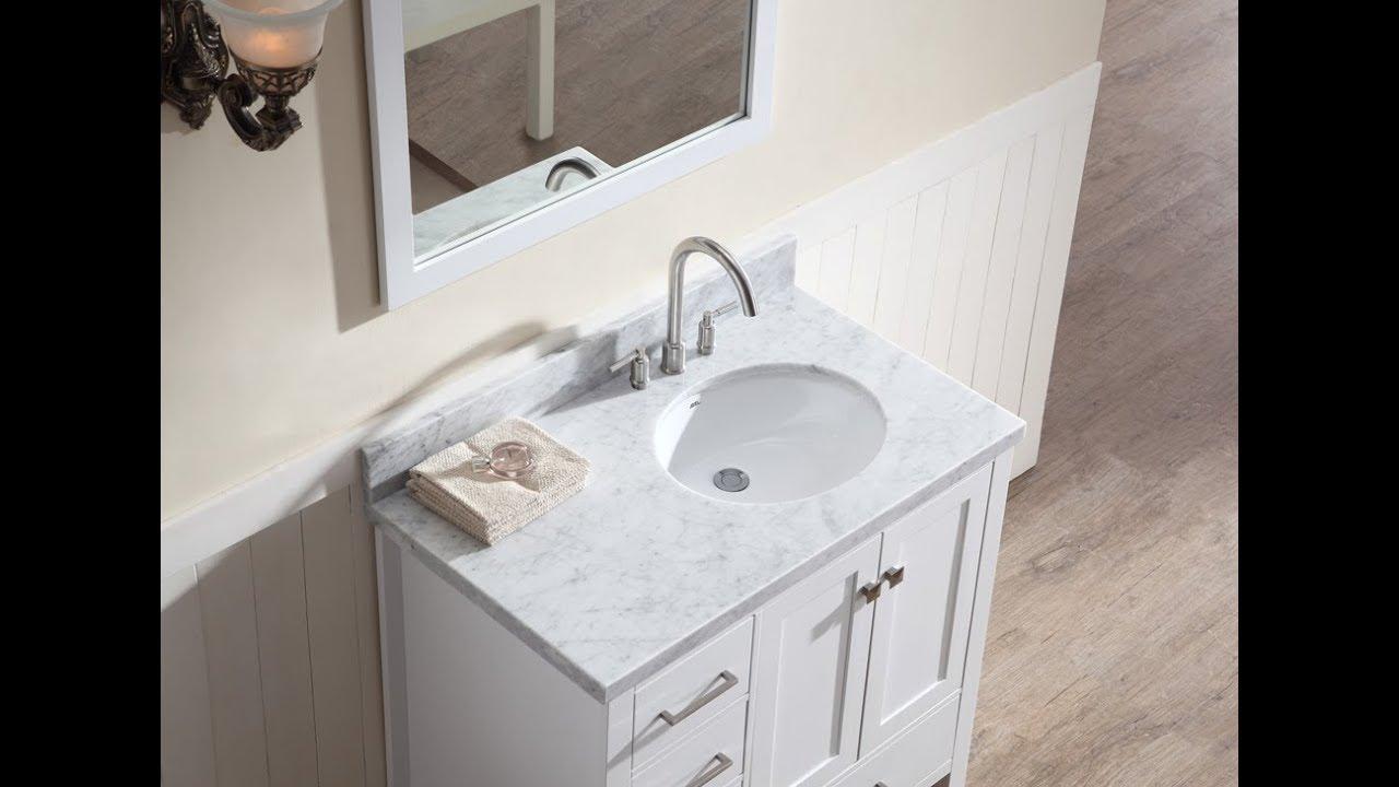 bathroom vanity with offset sink