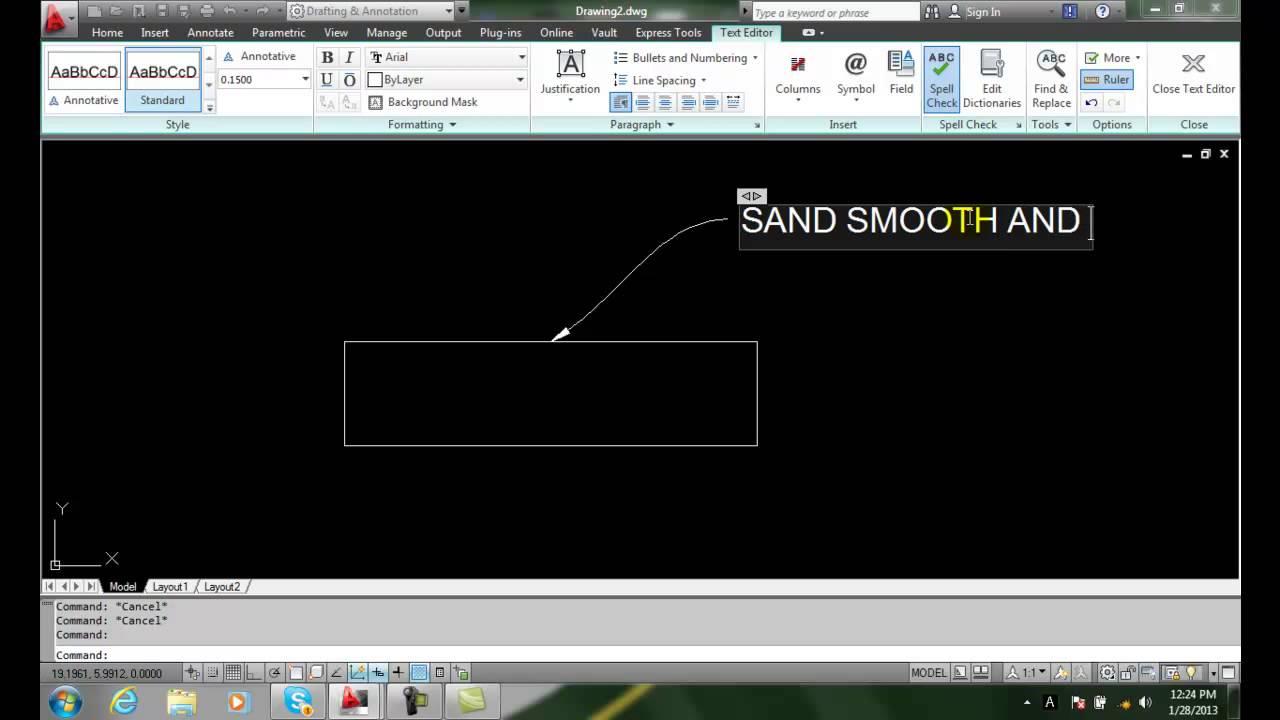 AutoCAD II 20-17 Editing Multileader Mtext