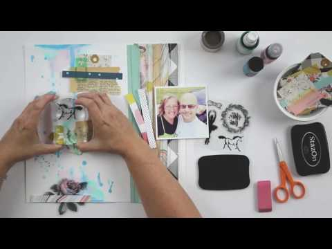 Traditional Layout Hello Love | Featuring Maggie Holmes Gather!!!