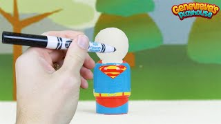 Best Toddler Learning for Kids Superhero Coloring with Markers Superman Spider man Batman Fun!