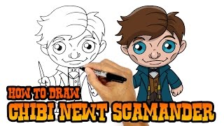 How to Draw Newt Scamander   Fantastic Beasts and Where to Find Them