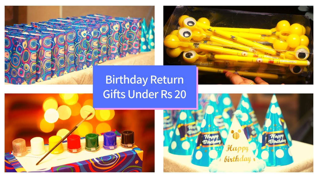 Last Minute Return Gift Ideas Under Rs 20 1st Birthday Party Bag Ideas Parrys Corner Chennai