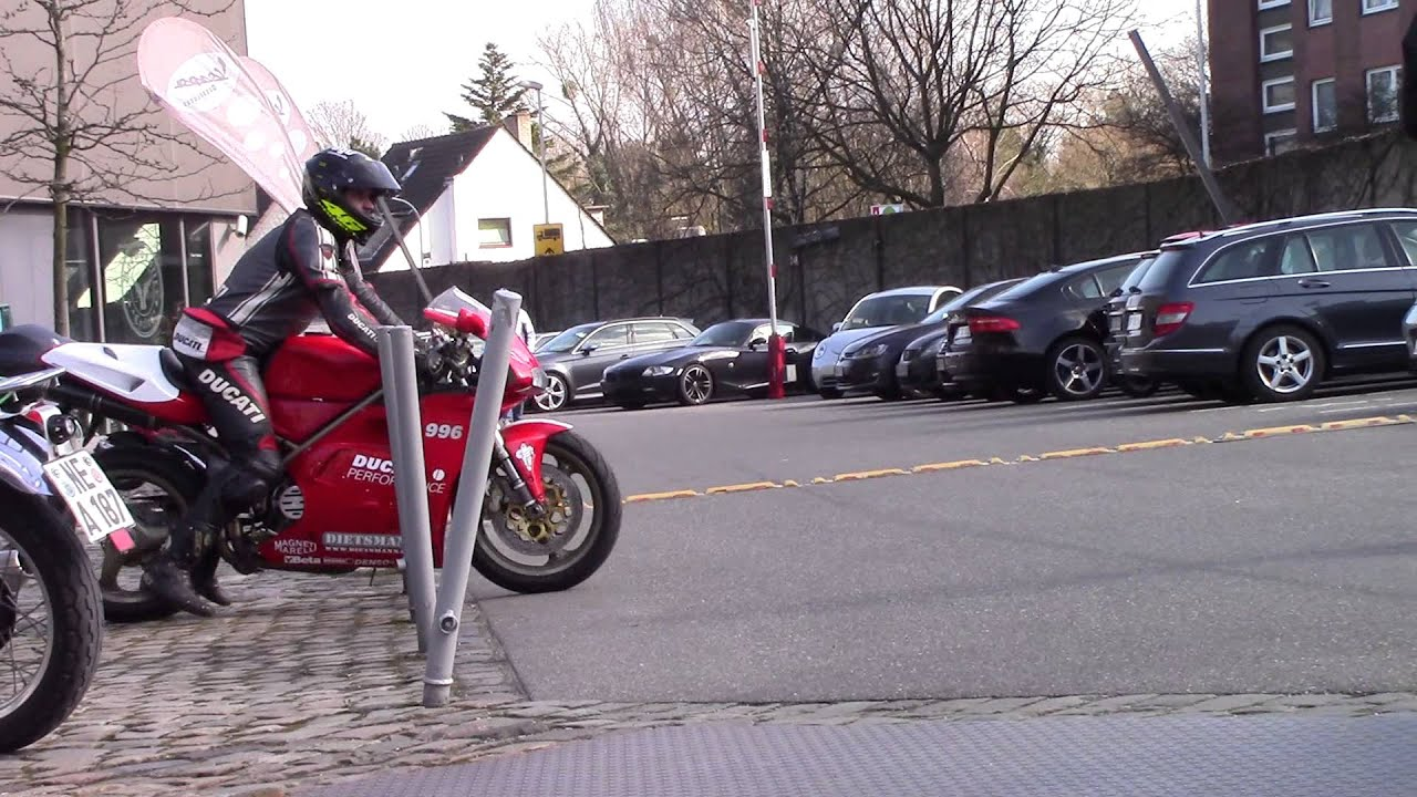 ducati 996 with a nice sound at classic remise dusseldorf - youtube