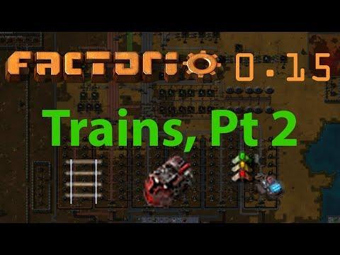 Factorio Tutorial #23 - Trains, pt 2 - 2-lane and 4-lane examples