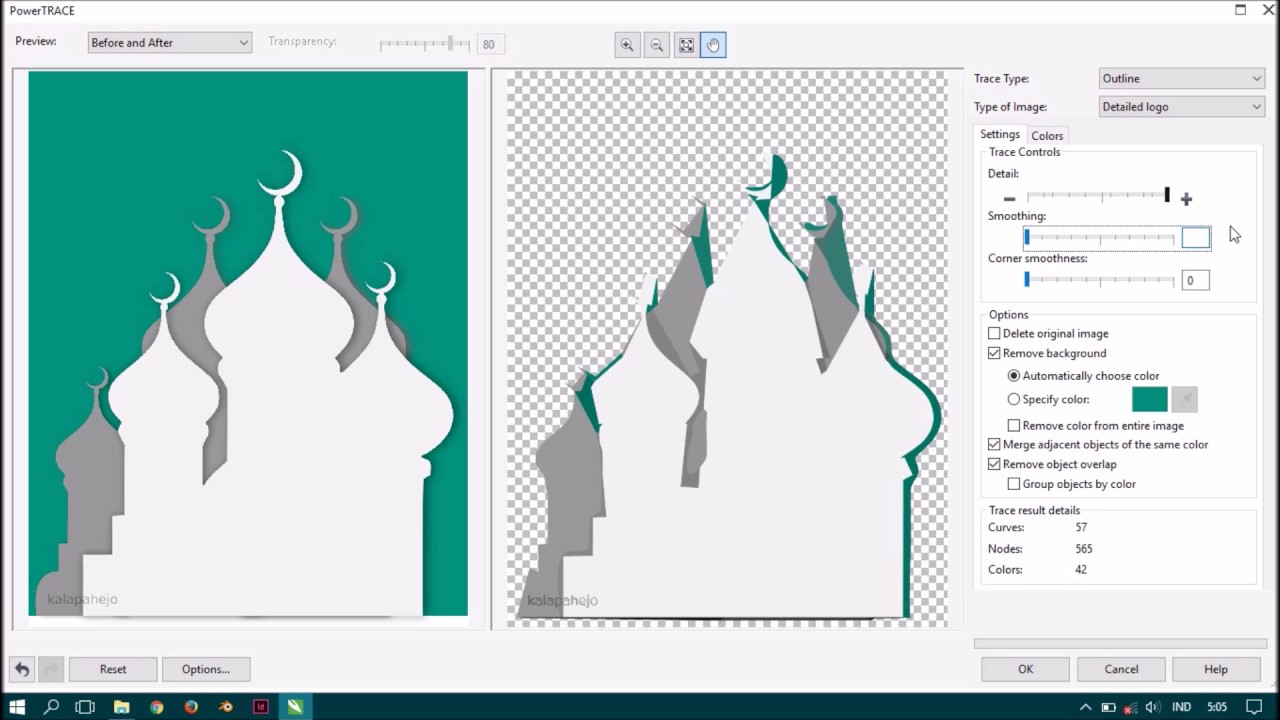 Cara Memisahkan Gambar atau Mengubah Warna pada Gambar di Corel Draw X7
