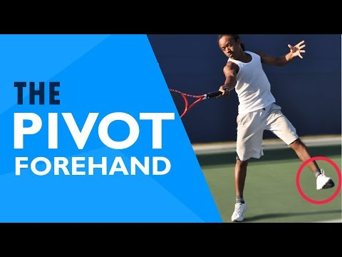 Tennis FOOTWORK   The Forehand PIVOT (Slow Motion Tutorial)
