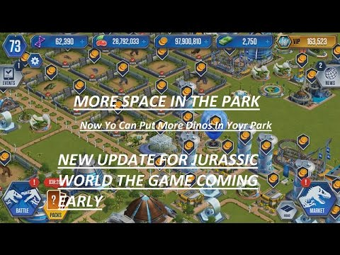 ## Breaking News More Space For Dinos In Park || Asset Repository ##JURASSIC WORLD THE GAME